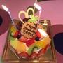 嬉しいbirthday cake!10日遅れの最良の日に感謝。